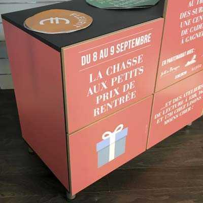 Adhesifs Tako pour habillage evenementiel