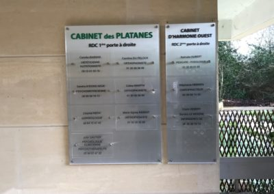 Plaques d'immeubles cabinet medical