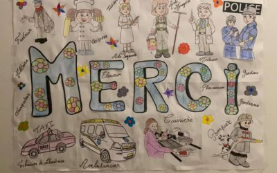 Concours de dessin organisé par la gendarmerie des Yvelines